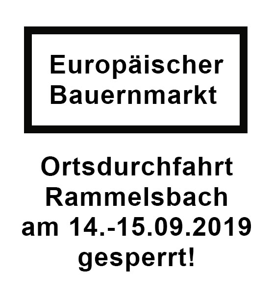 Ortsdurchfahrt Rammelsbach gesperrt