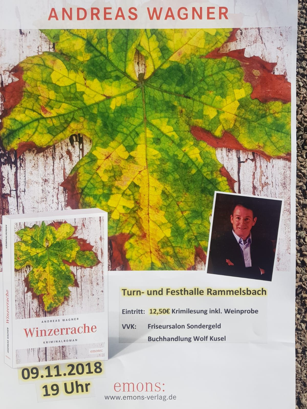 Krimilesung mit Andreas Wagner