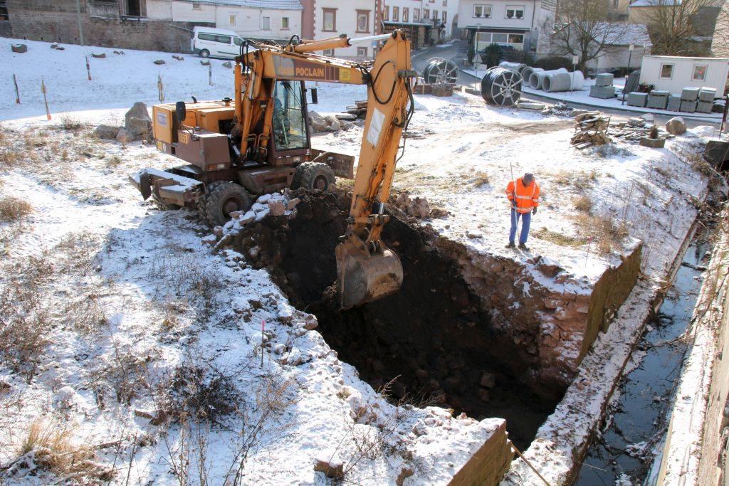 Weiterführung von Baumaßnahmen im Ort
