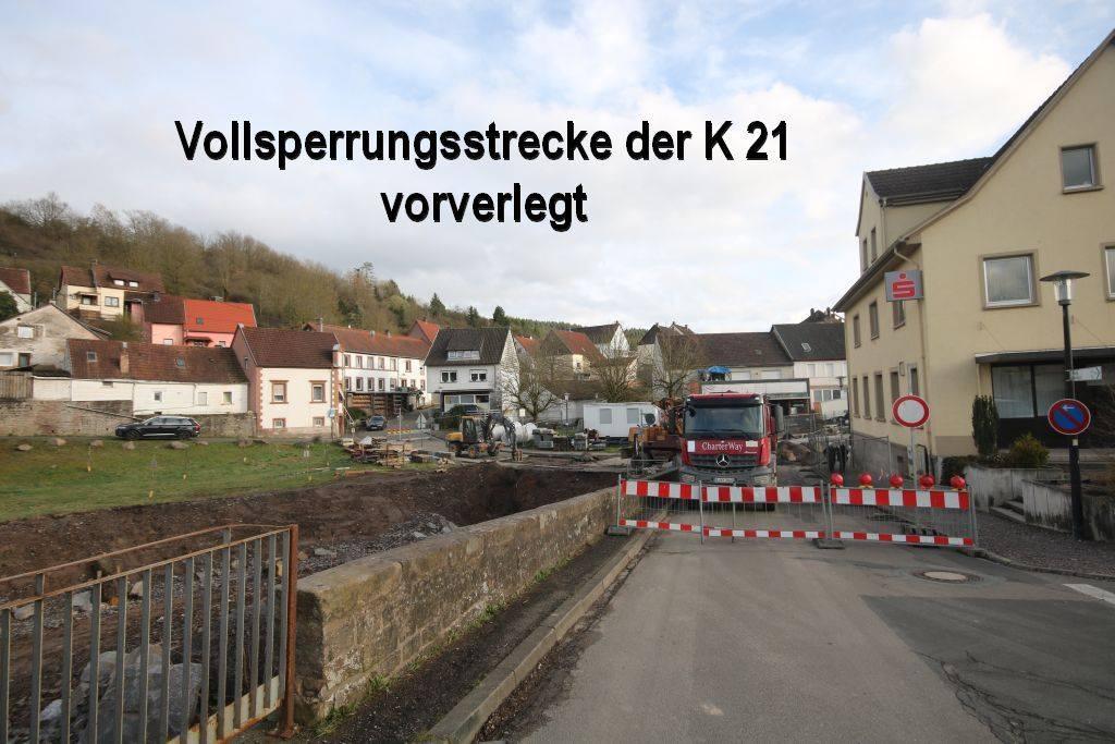 Vollsperrung K 21